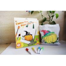niños lona de DIY hechos a mano bolsas de algodón de pintura