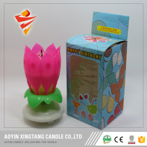 Music happy birthday song candle