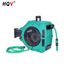 "A18 high pressure wall mountable retractable water hose reel with 3/8"" hose"