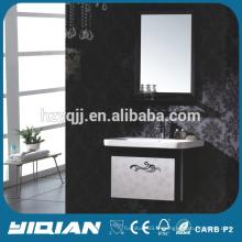 Vanité de salle de bain de luxe en acier inoxydable de lavabo de lavabo de conception simple