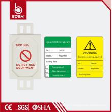 BOSHI! Matériel en plastique Étiquette d'échafaudage de haute qualité avec stylos et dossiers, cartes et supports de cartes dans BD-P31 complet