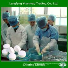 Desinfectante de dióxido de cloro para la desinfección de aguas residuales hospitalarias