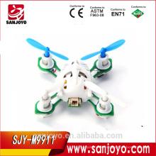 Brinquedos mais pequenos do mundo M9911 4CH 6 Eixos Nano RC Quadcopter 2.4G skywalker