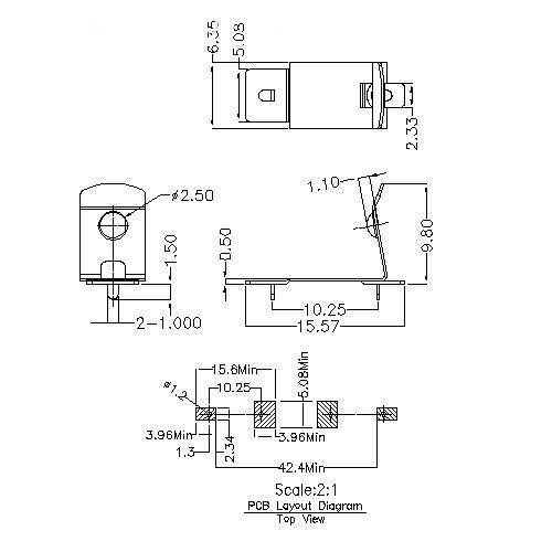 Battery Contacts FOR CR151A BS-M-G0-R-CR151A