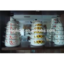 carbon steel enamel cookware & enamel casserole sets withand roll rim enamel lid