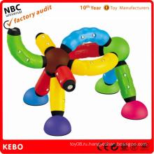Пластиковые игрушки кирпич строительство
