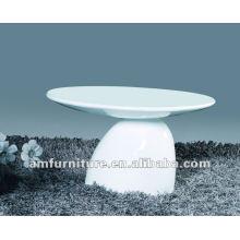 Table basse moderne en fibre de verre à haute brillance