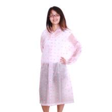 lange Damen EVA Raincoat mit vollen Druck