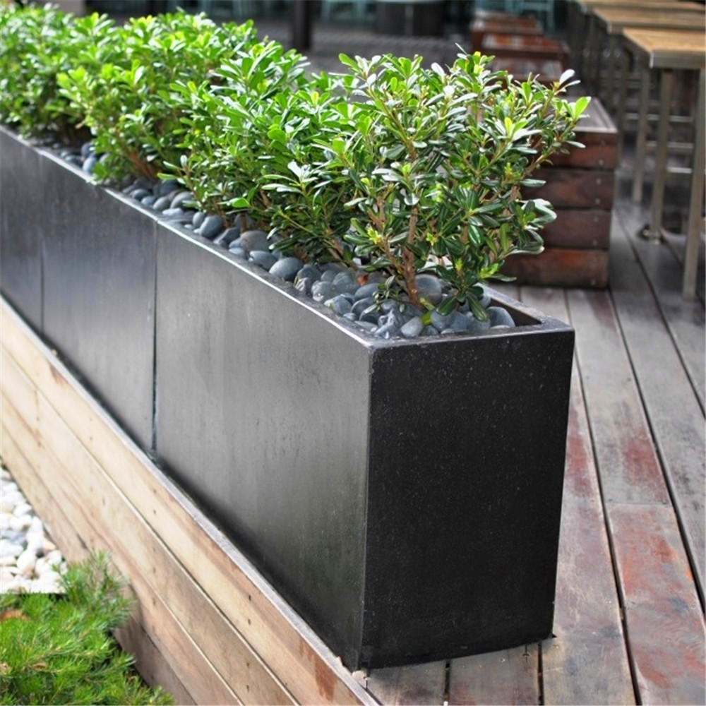 Large Metal Stainless Steel Flower Planter
