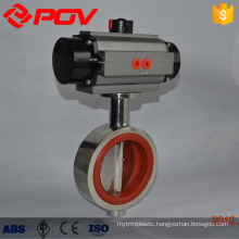 sanitary wafer type pneumatic butterfly valve