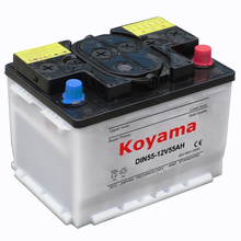 European Vehicle Dry Charged Automotive Battery DIN55-55ah 12 V