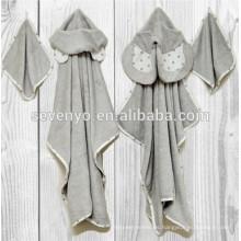 Toalla de baño con capucha de bambú de Natemia Toalla altamente absorbente, suave, bacteriana para los muchachos, muchachas, recién nacido, oso, elefante