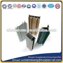 Perfil de aluminio recubierto de polvo para puertas y ventanas marco, marco de ventanas anodizado, perfil de aluminio de grano de madera para ventanas