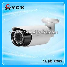 Cámara impermeable de la bala del CCTV IR, cámara del cctv de la distancia del ir del metro 100