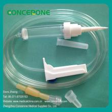 Conjunto de infusión desechable con Ce e ISO9001