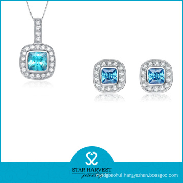 Elegant CZ Fashion Jewelry in 925 Silver (J-0165)