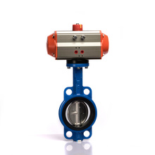DN50~600 Wafer flanged pneumatic wafer butterfly valve