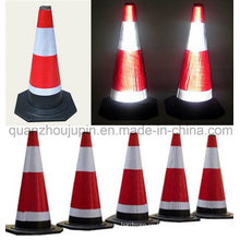 Custom High Quality Rubber Road Reflective Warning Traffic Cone