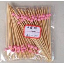 Knotted Safe Bamboo churrasco Fancy Party Mini Skewers