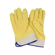 Fleece Jersey Liner Work Safety Cuff Latex Coated Glove