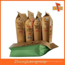China Guangzhou OEM Kraft Heat Seal Foil Paper Bags For Food Packaging