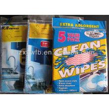Toalhetes de limpeza não tecidos domésticos descartáveis