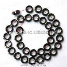 """12MM Loose Magnetic Hematite Ring Beads 16"""""""