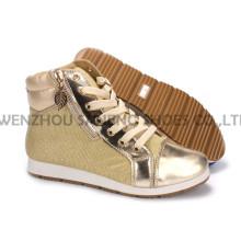 Sapatos femininos de lazer Sapatos de PU com sola de corda Snc-55015