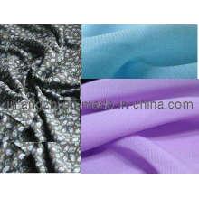 Печатных и окрашенные ткани платья 100% полиэстер шифон