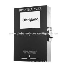 Wall-mounted Vending Breathalyzer with Fuel Cell Sensor Speaks Portuguese
