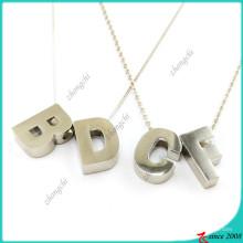 Collar de plata del alfabeto de moda para collar de niña (FN16041812)