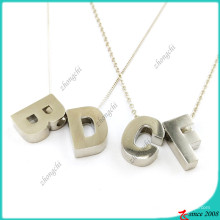 Fashion Silver Alphabet Necklace for Girl Necklace (FN16041812)