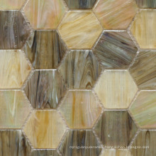 Glass Mosaic 48 for Swimming Pool Hexigon
