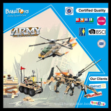 Special Offer! Educational toys for adults kids play set military truck toy and helicopter block sizes