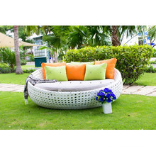 Synthetic Rattan Round Lounger