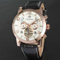 Leather Watches Stainless Steel Back Brand Waterproof