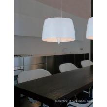 Alumínio aço carbono branco pendnat luz (928S)
