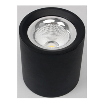 Downlight LED cilíndrico preto de 7W