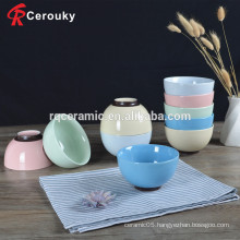 European style FDA approved colorful ceramic bowl