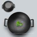 Wok de hierro fundido inducciones carne wok