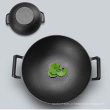 Utensílio de cozinha de ferro fundido pré-temperado wok