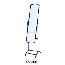 Home Bedroom Modern Metal Dressing Mirror Standing Floor para venda