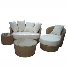 Patio Rattan Outdoor Furniture Wicker Garden Lounge Sofa Set