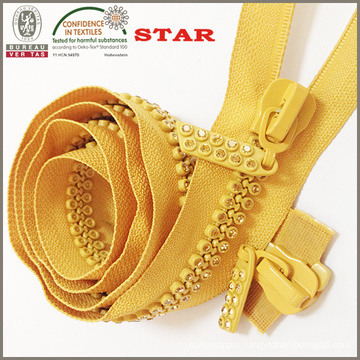Good Quality Crystal Zipper for Wholesale