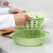 Plastic 2 in 1 Drainer Storage Basket Kitchen Accessories