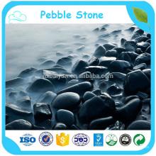Natural River Stone Black Polished Pebble Wash Stone In Bulk
