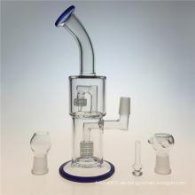 Gekrümmte Arm Duschkopf Glas Rauchende Wasserrohre zu Birdcage Percolater (ES-GB-358)