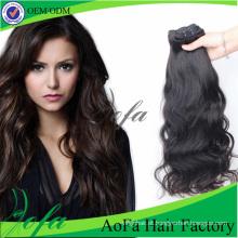 Cabelo humano natural do cabelo indiano não processado do Virgin da categoria 7A
