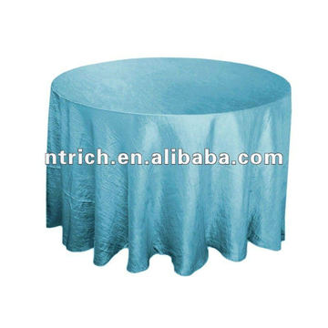 Tafetá de pano de mesa-redonda do casamento da dobra/esmagado