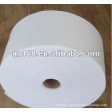 70% viscose et 30% polyester Tissu non-tissé Spunlace 45 g / m² pour lingettes humides